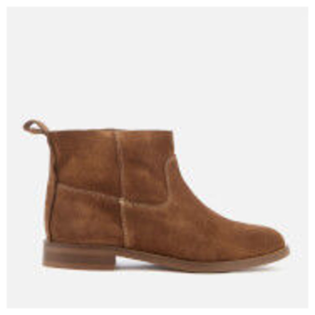 Hudson London Women's Odina Suede Flat Boots - Tan - UK 3 - Tan
