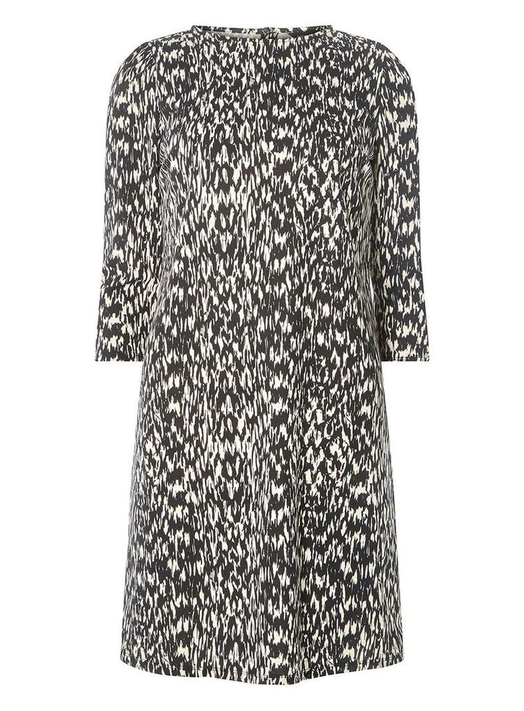 Womens Animal Print Shift Dress- Multi