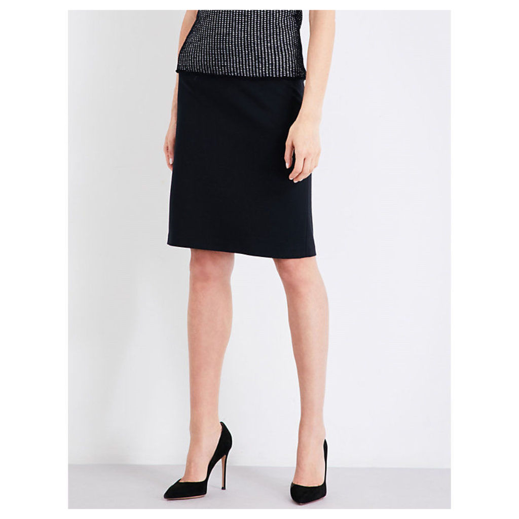 Stretch-woven pencil skirt