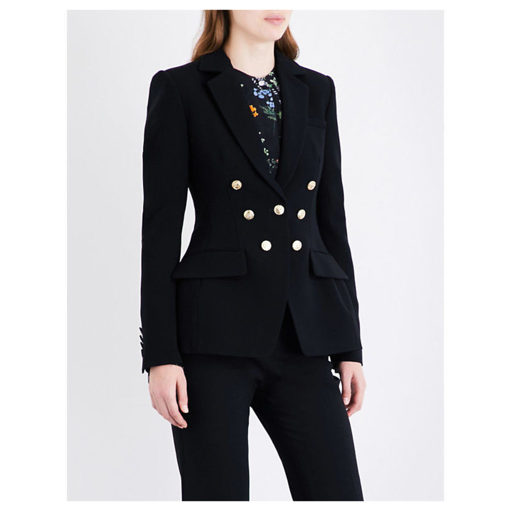 Ward double-breasted crepe blazer