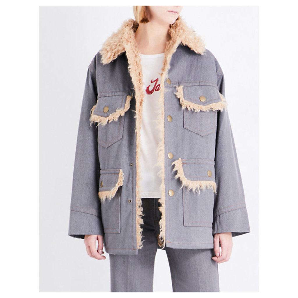 Oversized cotton jacket