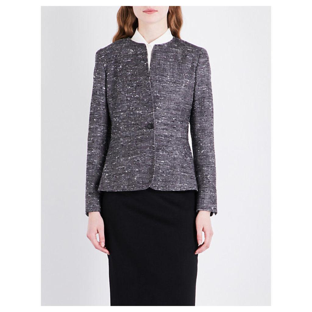 Aire hopsack weave wool-blend jacket