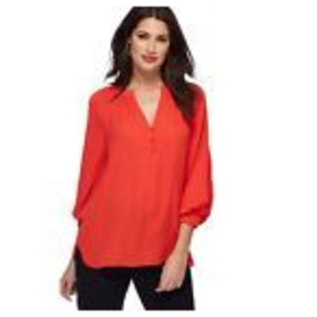 Principles Womens Red Pleated Sleeve Blouse From Debenhams