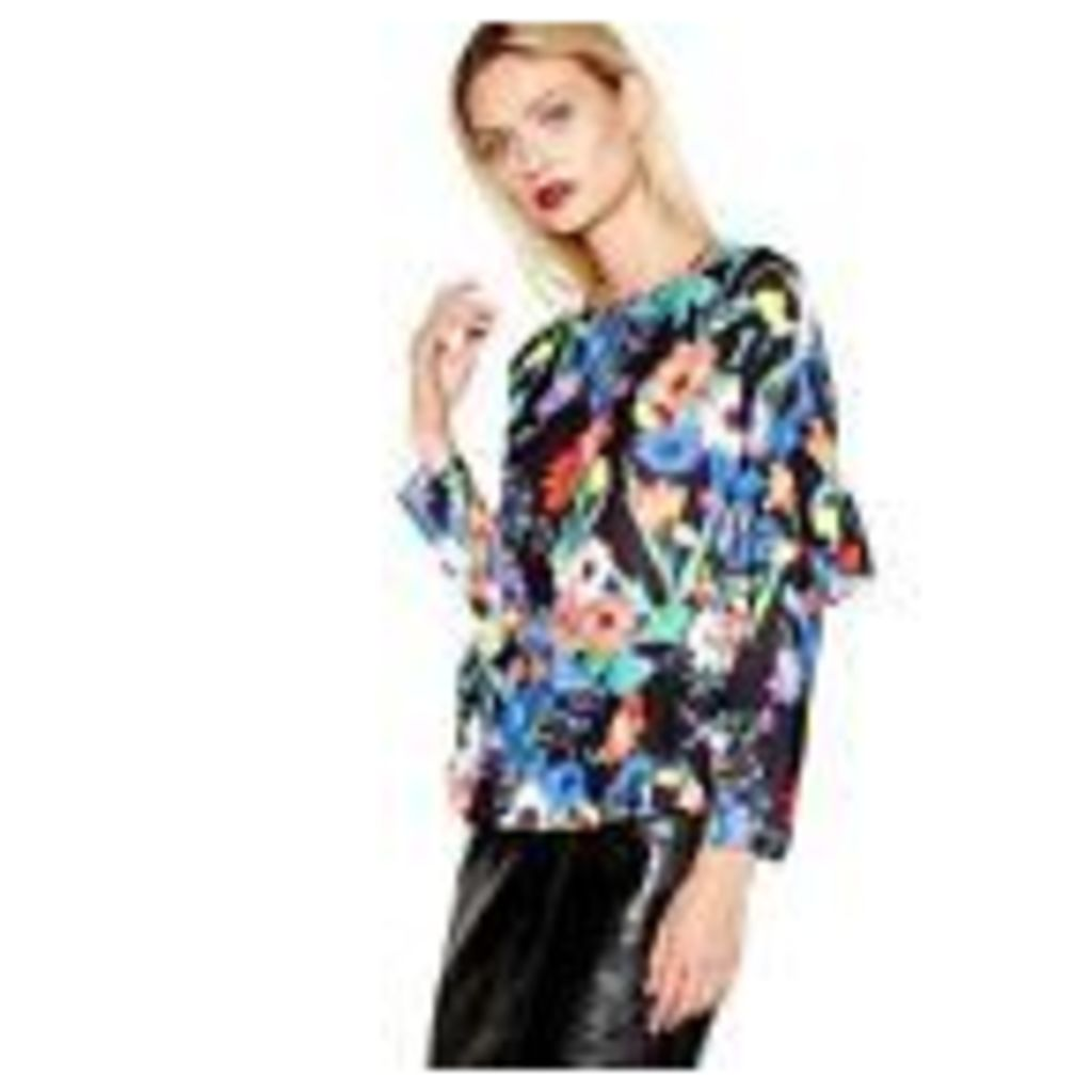 Studio By Preen Womens Multi-Coloured Floral Print Top From Debenhams