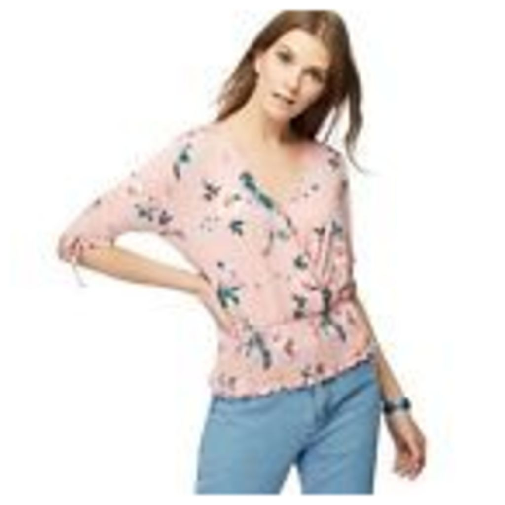 Red Herring Womens Light Pink Floral Print Ruched Top From Debenhams