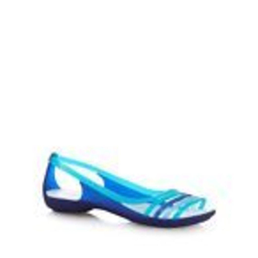 Crocs Womens Blue 'Isabella Huarache' Flip Flops From Debenhams
