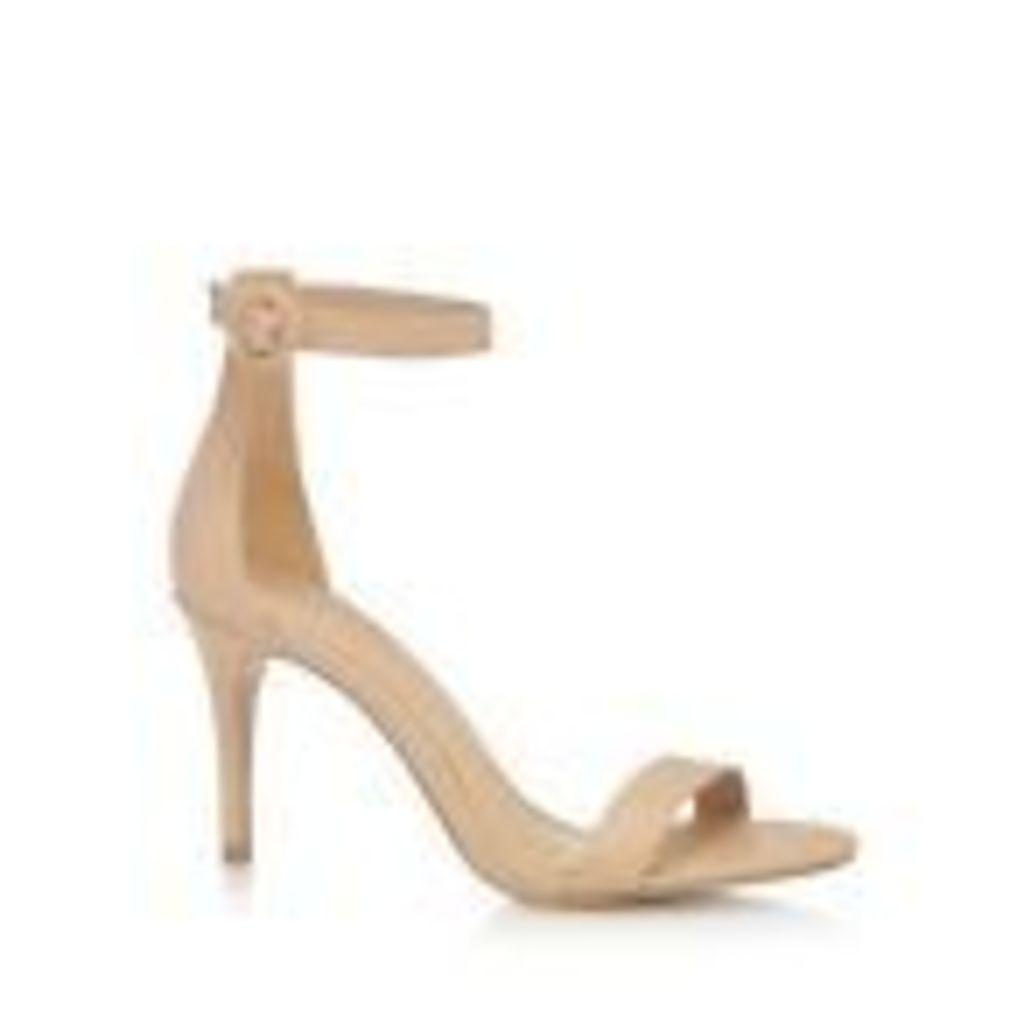 J By Jasper Conran Nude Leather 'Julissa' High Stiletto Heel Ankle Strap Sandals
