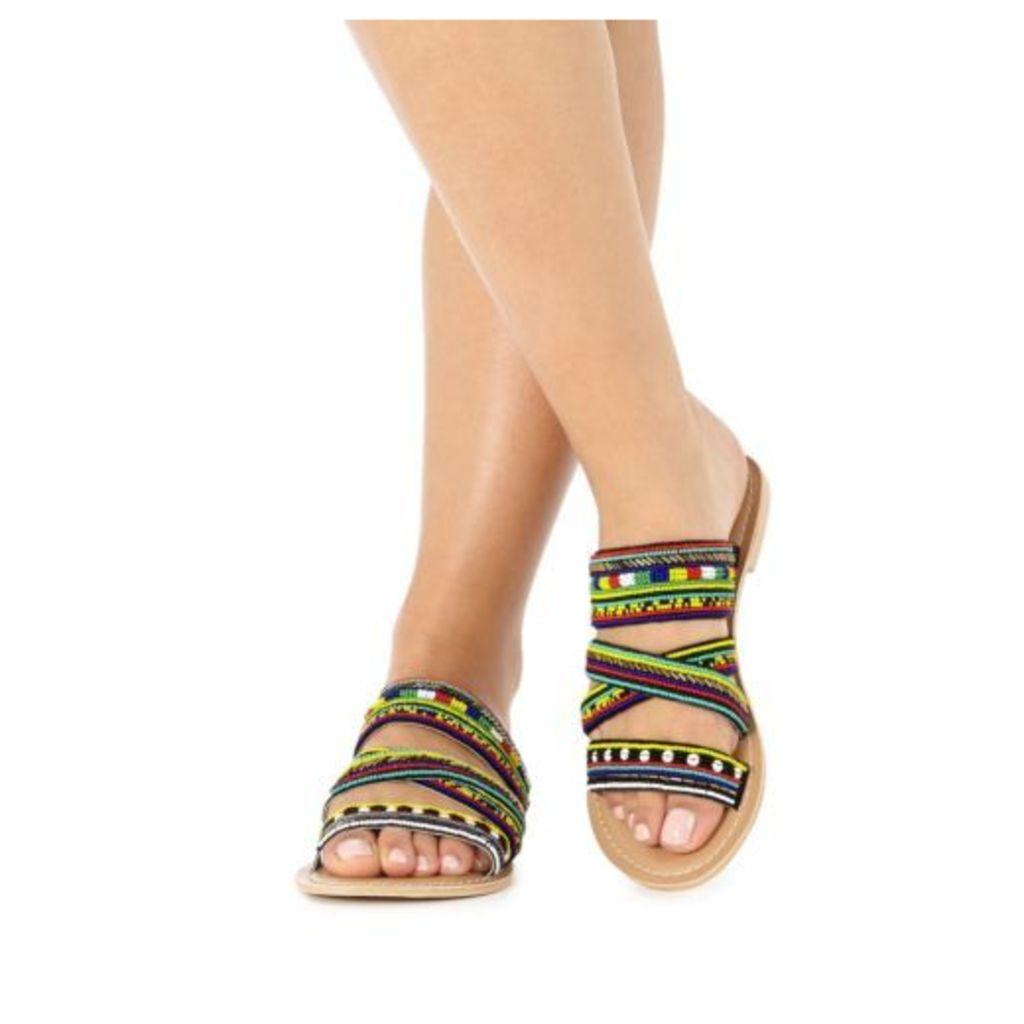 Faith Multi-Coloured 'Jada' Sandals From Debenhams