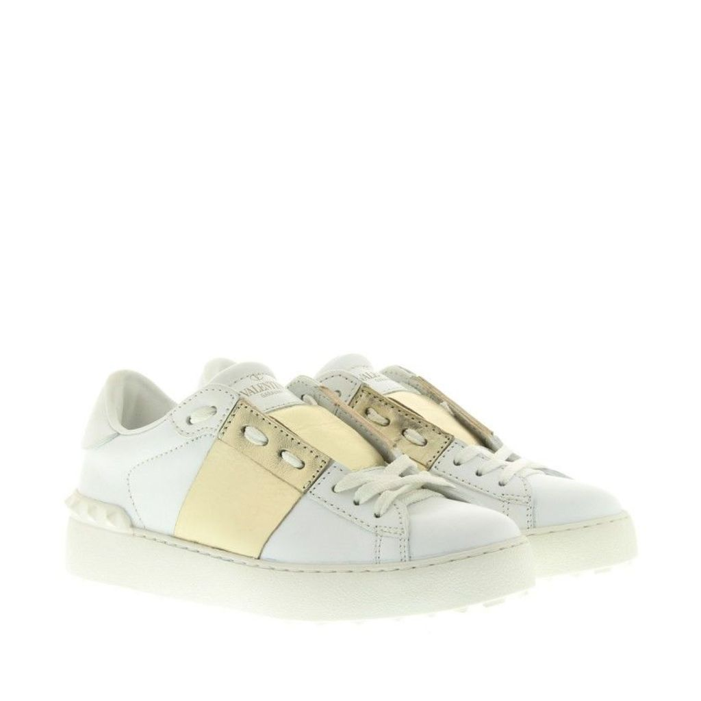 Valentino Sneakers - Rockstud Sneaker White/Gold - in white - Sneakers for ladies