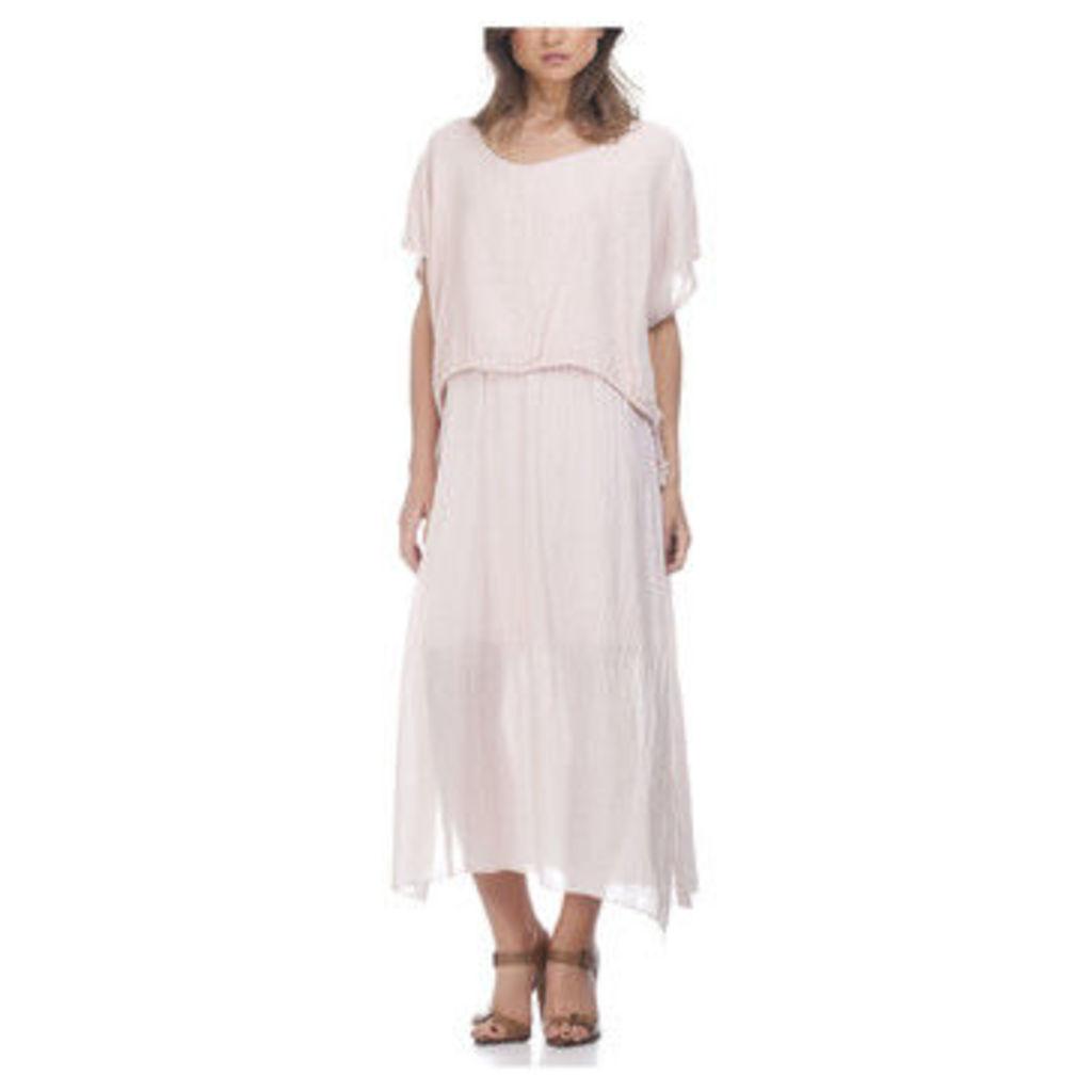 Laura Moretti  Dress YELZ  women's Long Dress in Pink