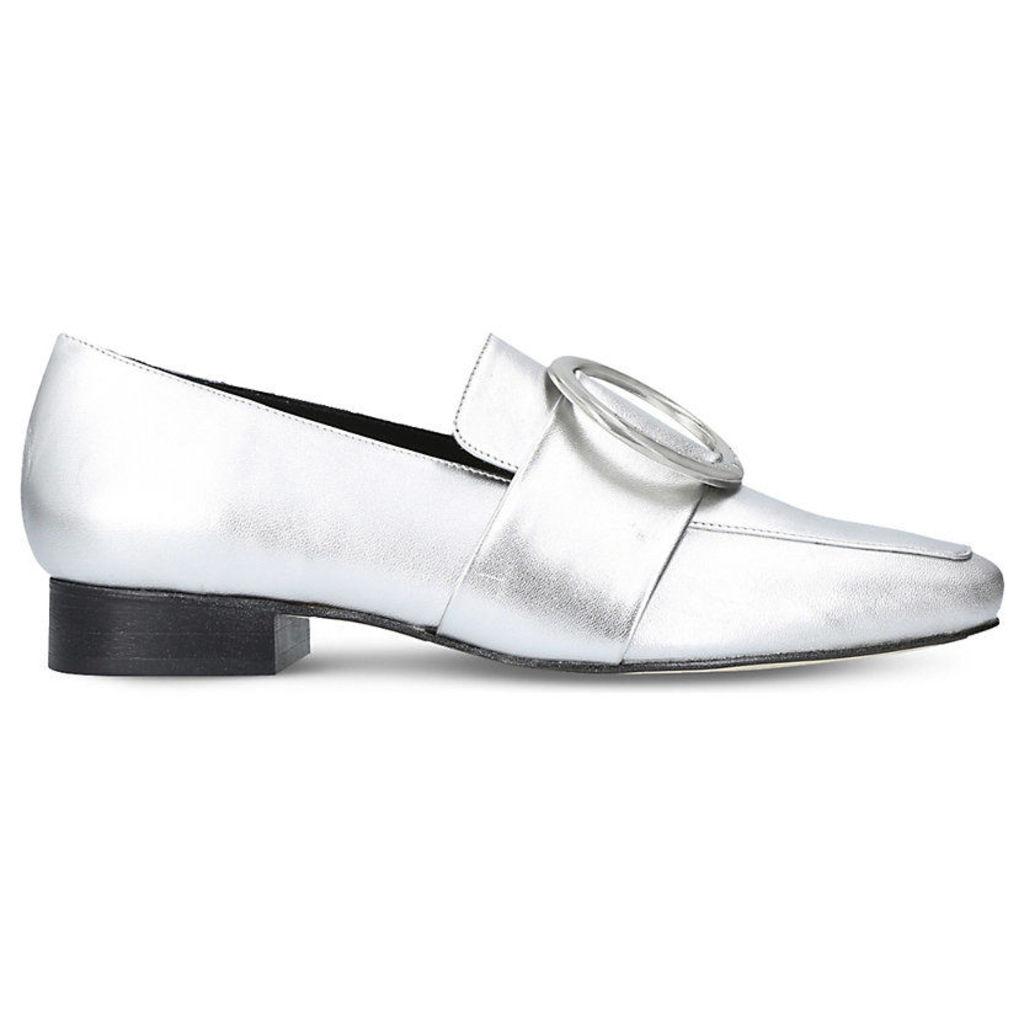 Harput metallic leather loafers