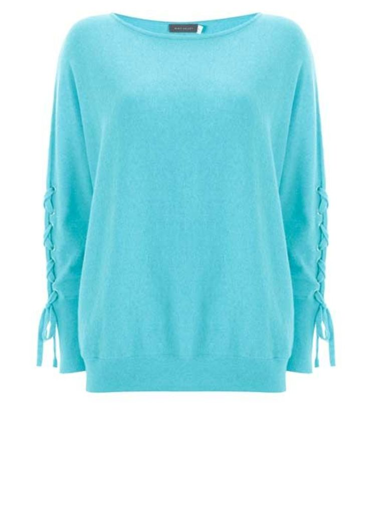 Ocean Lace Up Batwing Knit