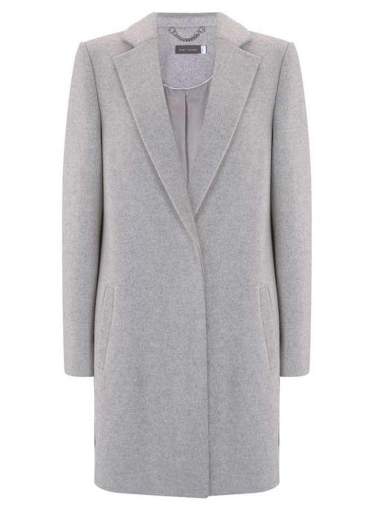 Light Grey Luxe Boyfriend Coat