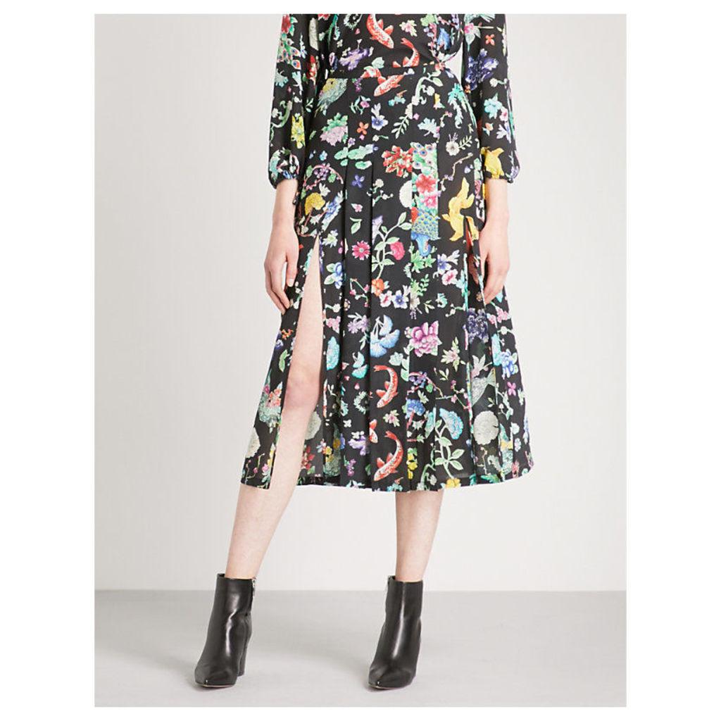 Georgia high-rise silk skirt