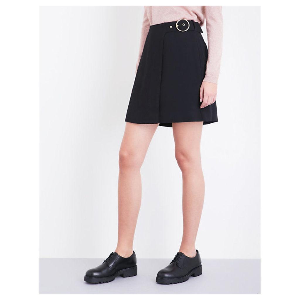 Arpi buckle-detail crepe skirt