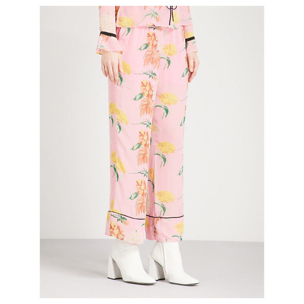 Marceau straight chiffon trousers
