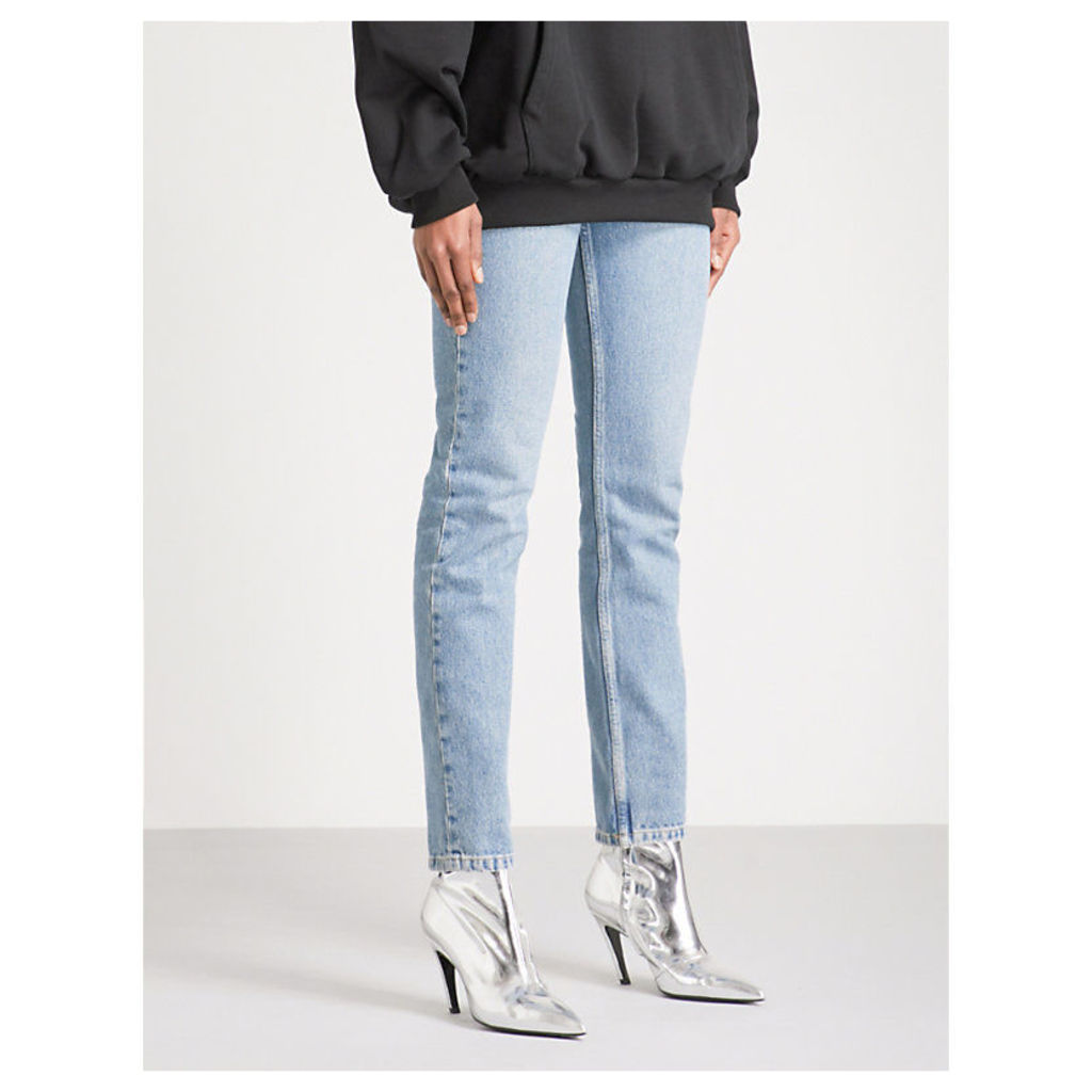 Skinny high-rise jeans