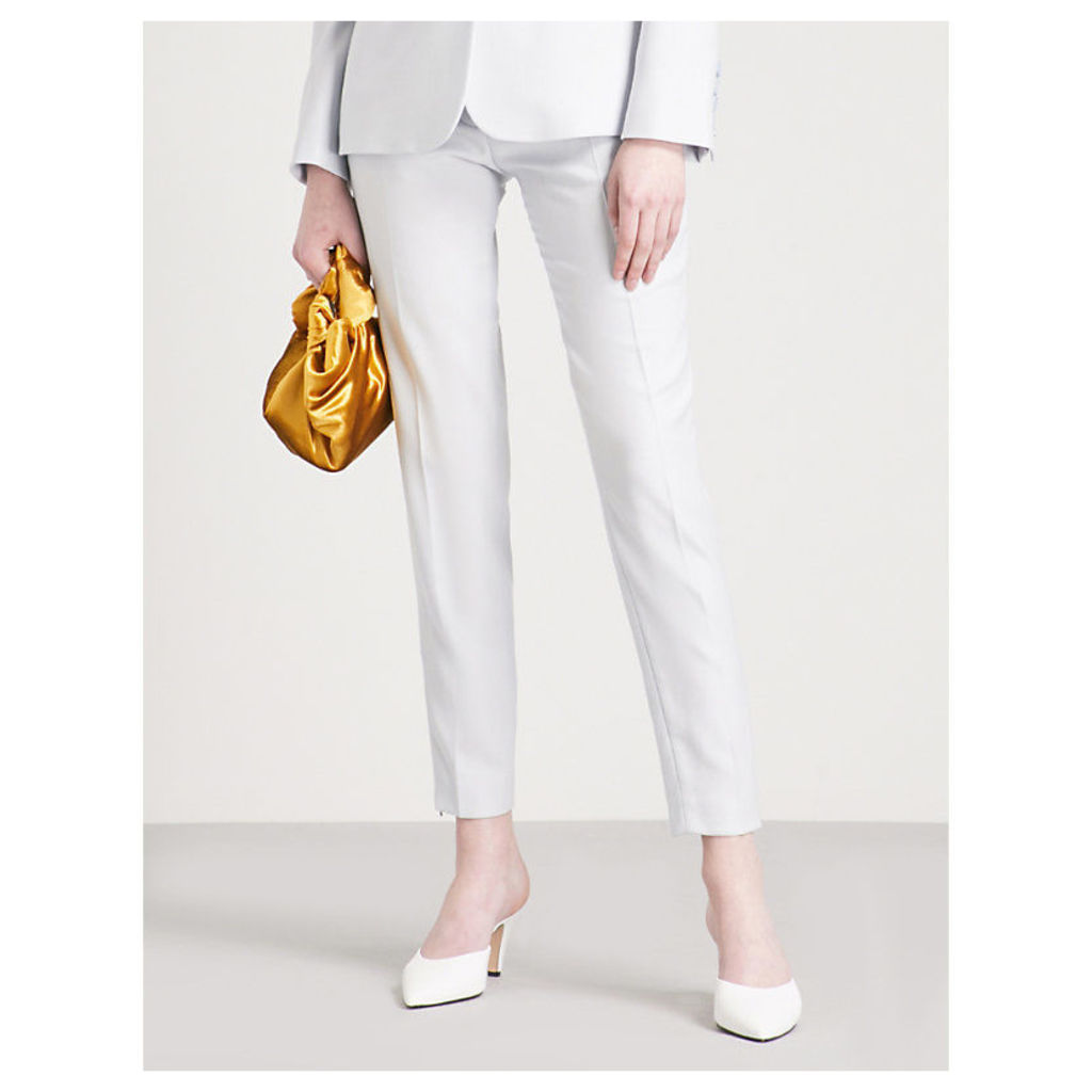 Vivian tapered wool-piqué trousers