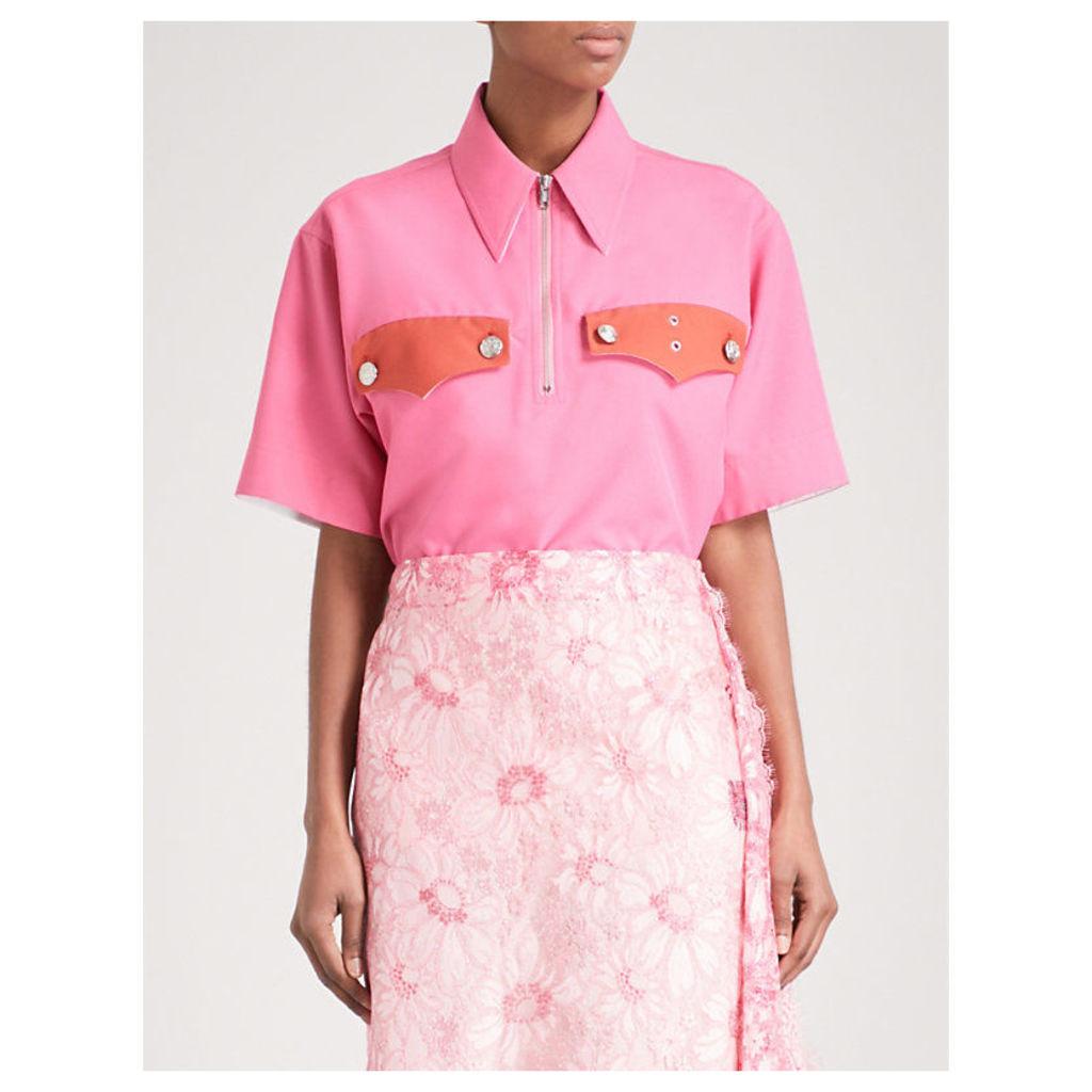 Pocket-detailed woven shirt