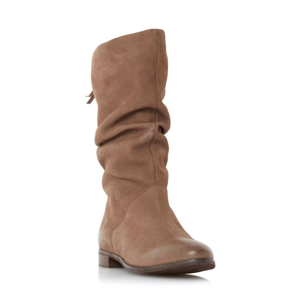 Rosalind Slip On Ruched Calf Boot