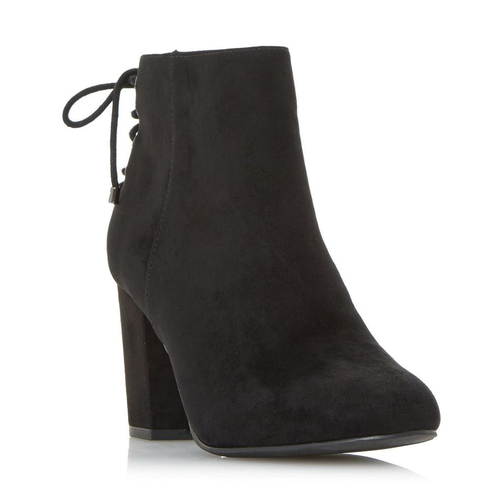 Olli Back Laced Block Heel Ankle Boot