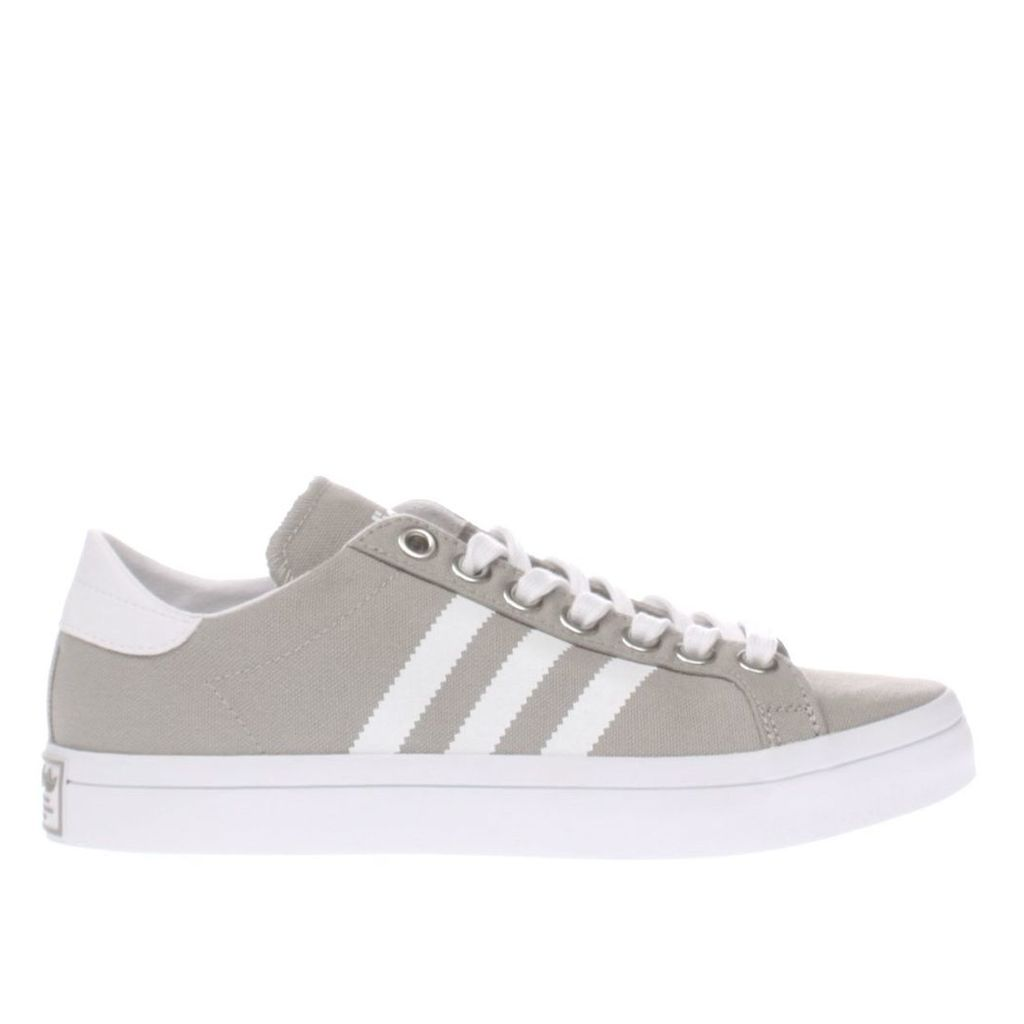 adidas light grey court vantage trainers