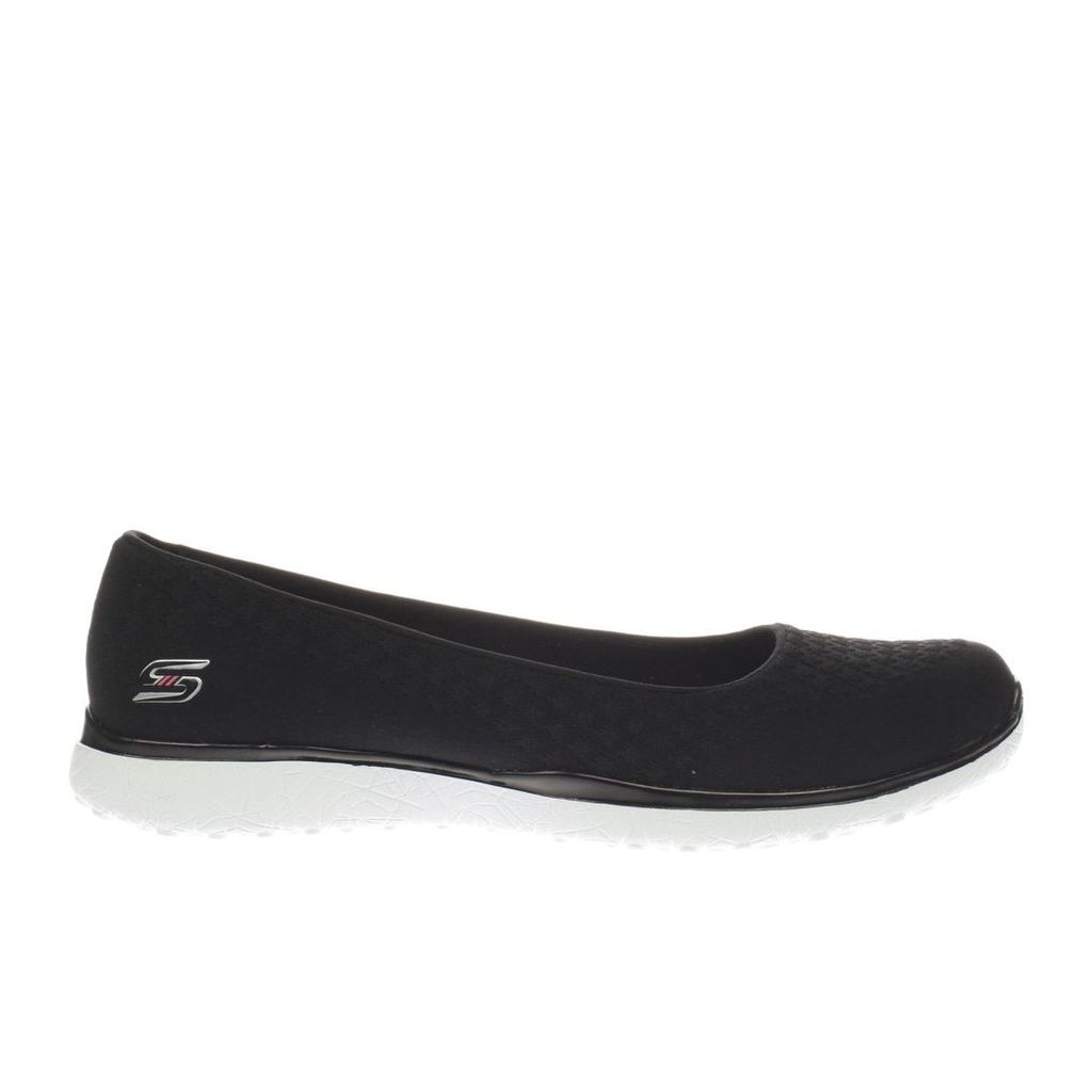 skechers black & white microburst one up trainers