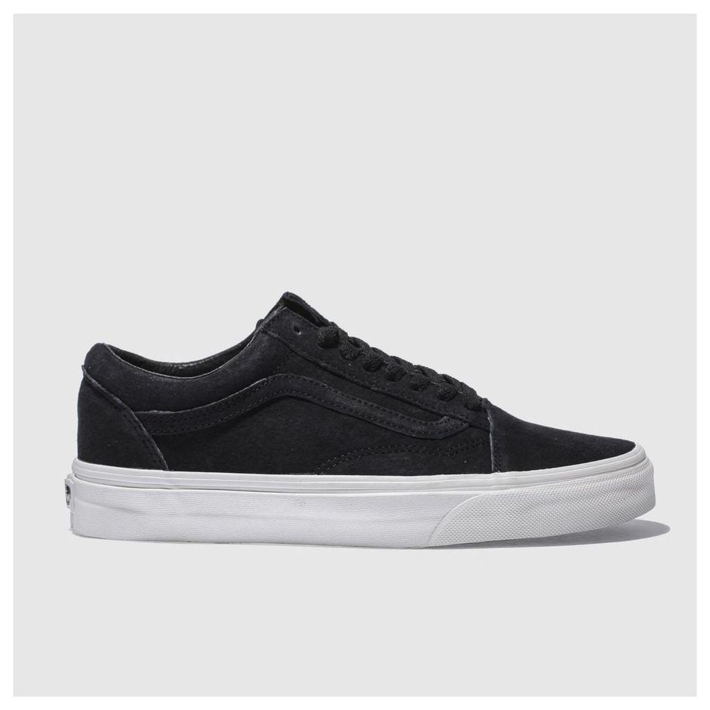 vans black old skool trainers