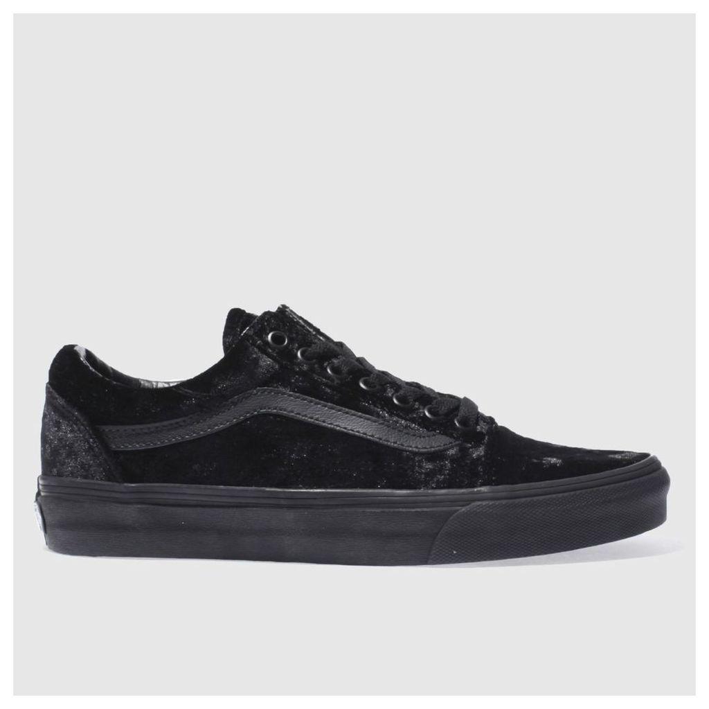 vans black old skool velvet trainers