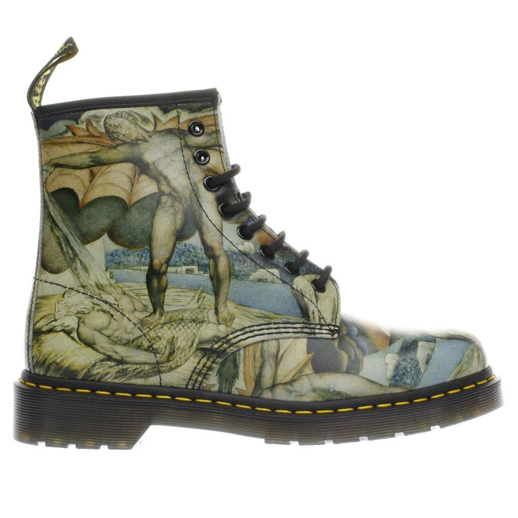 dr martens black & stone 1460 8 eye william blake boots