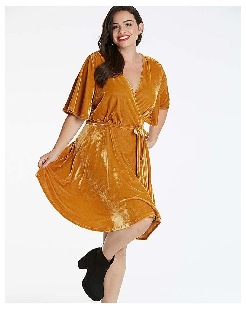 Glamorous Curve Velour Wrap Dress