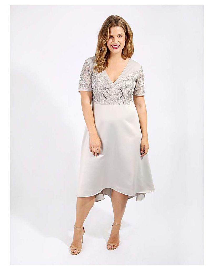 Lovedrobe Luxe Embellished Swing Dress