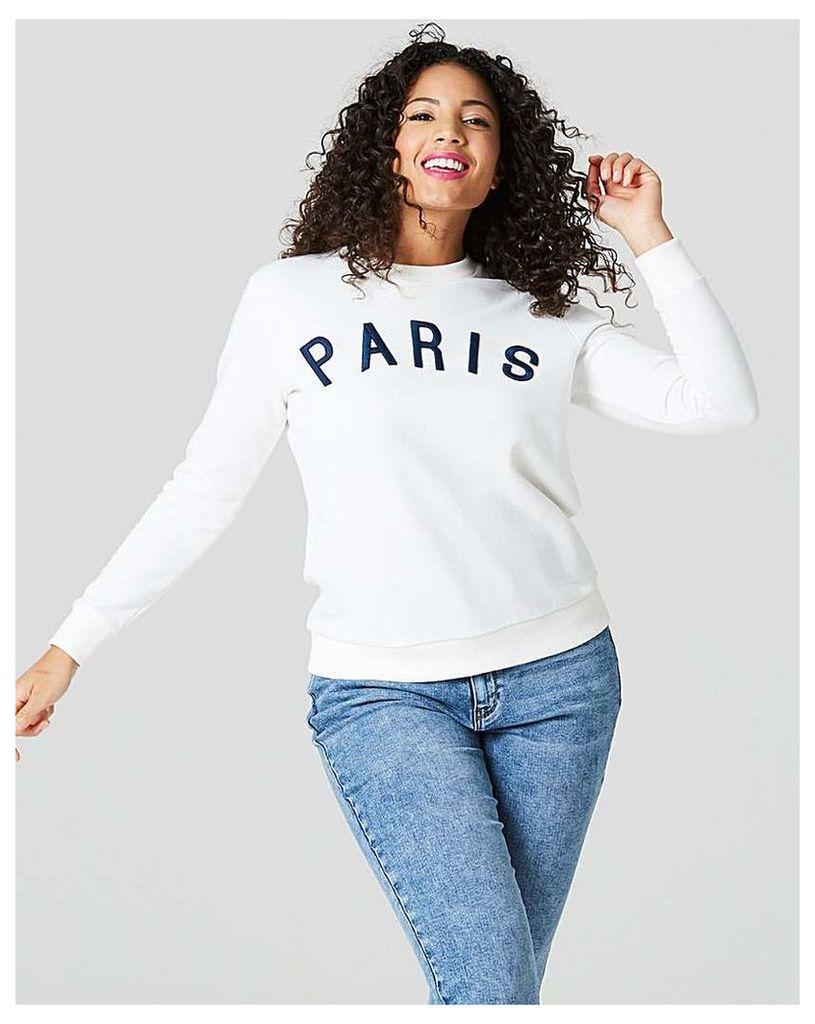 Paris Slogan Sweat