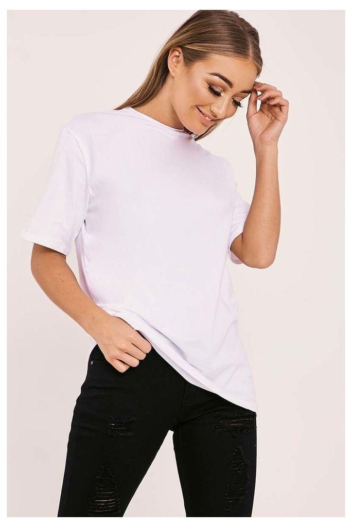 Shirts - Basic Longline White t Shirt