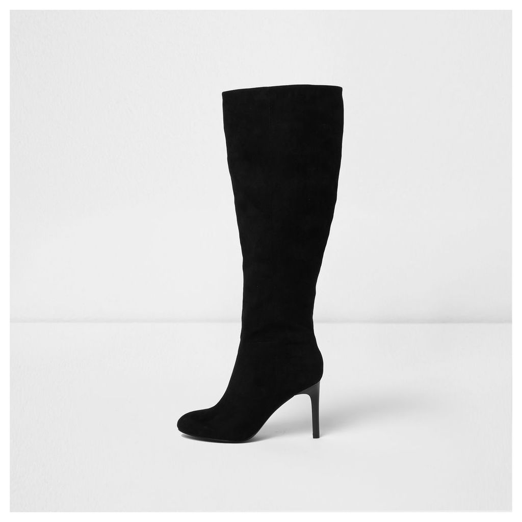River Island Womens Black wide fit stiletto over the knee boots