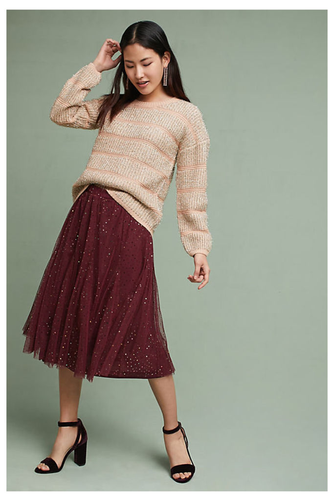 Everly Tulle Skirt - Wine, Size L