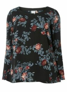 Womens **Juna Rose Multi Floral Print Tunic - Navy, Navy