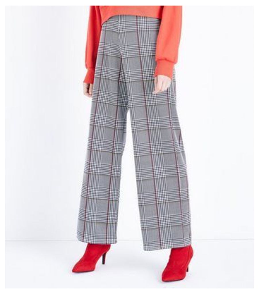 Innocence Black Check Pattern Flared Trousers New Look