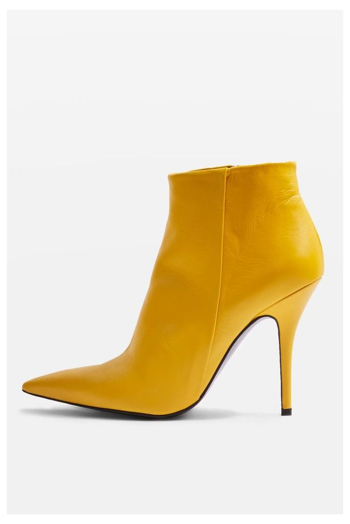 Womens Heat Ankle Boots - Yellow, Yellow