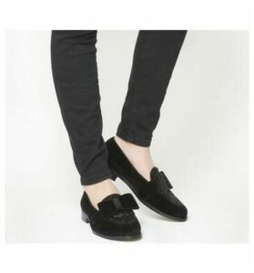 Office Fetching Bow Loafer BLACK VELVET