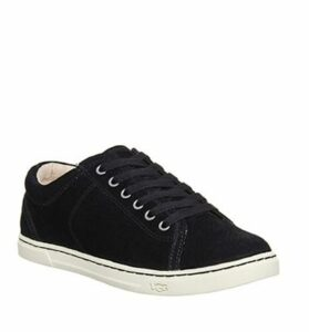 UGG Tomi Lace Up Trainers BLACK SUEDE