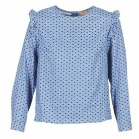 Moony Mood  IDANE  women's Blouse in Blue