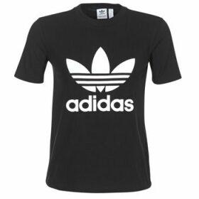 adidas  TREFOIL TEE  women's T shirt in Black