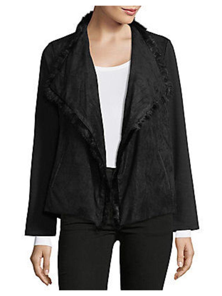 Lola Faux Fur Foldover Jacket