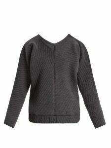 Charli Cohen - On The Qt Quilted Wool-blend Sweater - Womens - Grey
