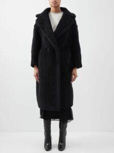 Raey - Squiggle-print Silk-crepe Pyjama Top - Womens - Burgundy Print