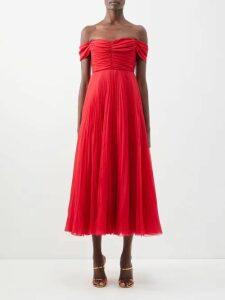 Prada - Pleated Rabbit-print Skirt - Womens - Blue Print