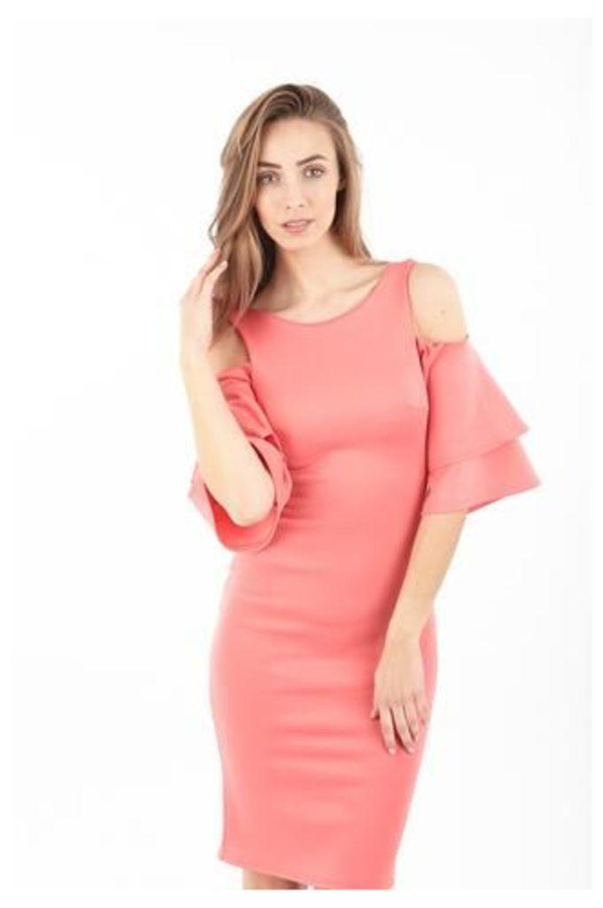 Feature Sleeve Bodycon Dress