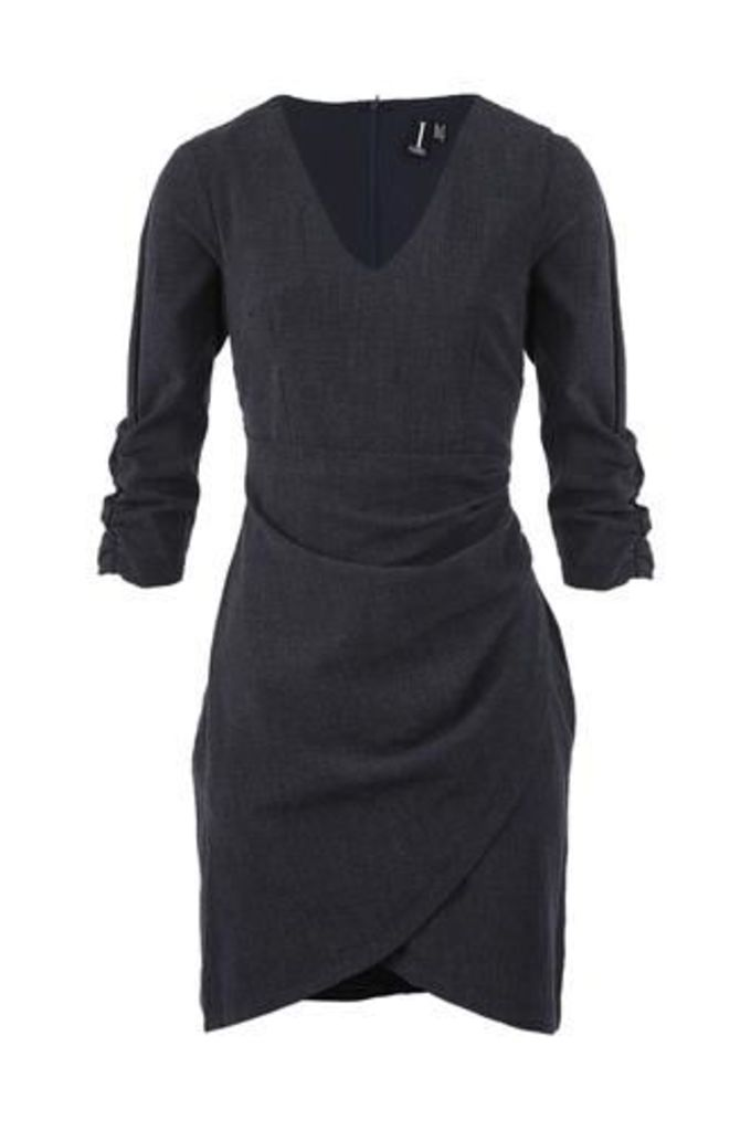 Ruche Wrap Dress
