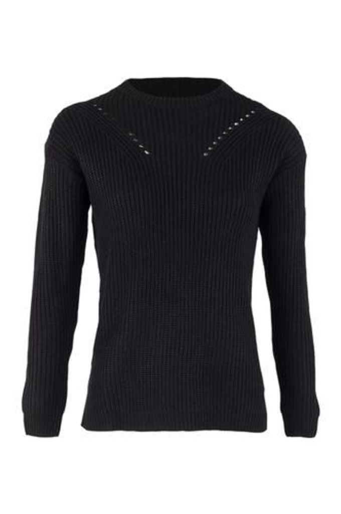 Tie Side Knitted Pullover